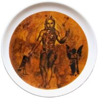 Baiju Parthan, Ceramic Platter, Limited Edition of 25(12''dia)