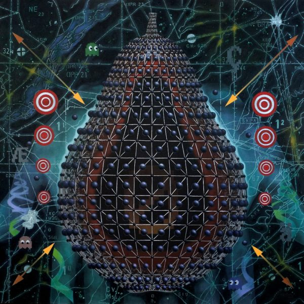 Baiju Parthan, 'Engineered Fruit' Disrupter), Acrylic On Canvas, 72'' x 72'', 2015