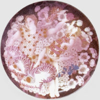 Maya Burman, Limited Edition Ceramic Platter, 12'' Dia
