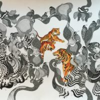 Nandan Purkayastha, 'The Lucky Wonders', Acrylic pen & ink on Paper, 32'' x 60'', 2016