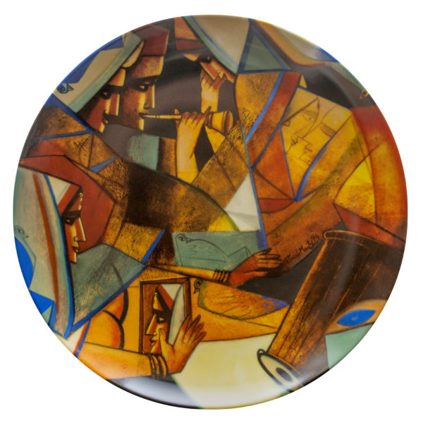 Paresh Maity, Life is a Music, Ceramic Platter, Limited Edition of 50, 12'' Dia