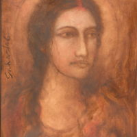 Suhas Roy, Radha, Oil on Canvas, 20''x16'', 2006