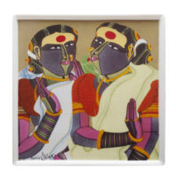 T Vaikuntam, 'Friends', Ceramic Platter, Limited Edition of 50, 12'' X12''