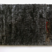 Smriti Dixit, Red - VI, Mixed Media on Canvas, 33'' X 99'', 2015